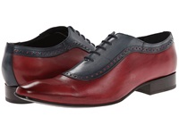 Messico Bohemios Blue Red Leather Men's Dress Flat Shoes