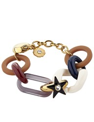 Sonia Rykiel Multi Resin And Metal Chain Bracelet