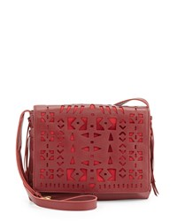 Isabella Fiore Patria Leather Crossbody Bag Garnet Red
