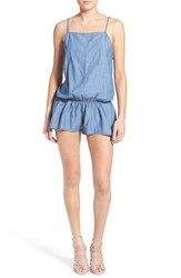 Women's One Teaspoon 'Delilah' Cotton Chambray Romper