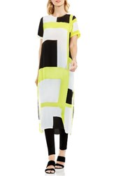 Vince Camuto Women's Graphic Print Tunic Lime Shock