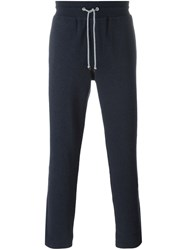 Brunello Cucinelli Cropped Track Pants Blue