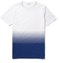 Loewe Degrade Striped Cotton Jersey T Shirt White