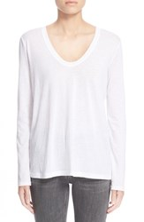 Women's Helmut Lang Scoop Neck Cotton And Cashmere Jersey Tee