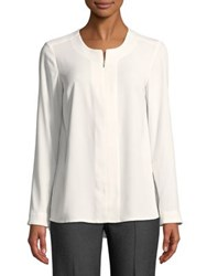 Jones New York Roundneck Blouse Ivory