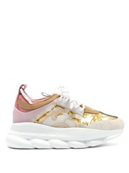 Versace Chain Reaction Baroque Print Trainers White Multi