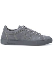 Billionaire Lace Up Sneakers Calf Leather Leather Rubber Grey
