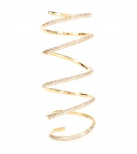 Stone Bliss Articulated 18Kt Gold Ring With Diamonds
