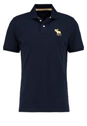 Abercrombie And Fitch Exploded Polo Shirt Navy Dark Blue