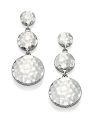 John Hardy Palu Sterling Silver Disc Triple Drop Earrings