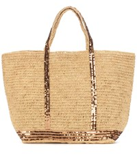 Vanessa Bruno Cabas Grand Raffia Shopper Beige