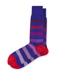 Paul Smith Ladder Striped Socks Purple