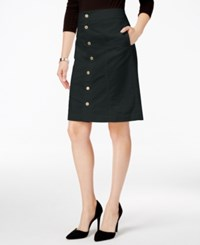 Charter Club Button Front Corduroy Skirt Only At Macy's Deep Black