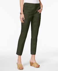 Style And Co Seam Detail Skinny Ankle Pants Only At Macy's Evening Olive
