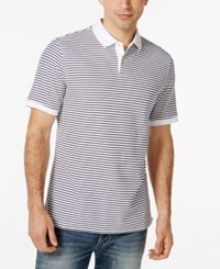 Club Room Short Sleeve Feeder Stripe Polo Only At Macy's