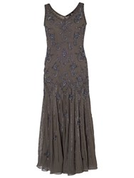 Chesca Beaded Flapper Dress Mink