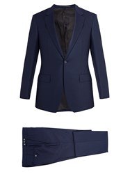 Kilgour Single Breasted Wool Crepe Suit Navy