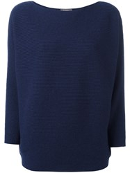 N.Peal Boat Neck Jumper Blue