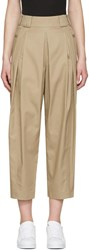 Alexander Wang Beige High Waisted Pleated Trousers