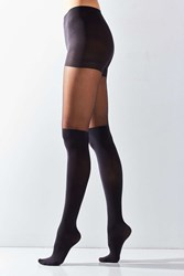 Urban Outfitters Super High Faux Thigh High Tight Black