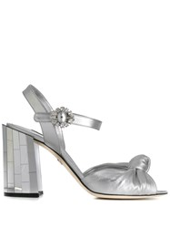 Dolce And Gabbana Keira Sandals Silver