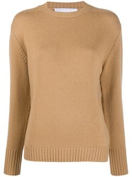 Re Done Cable Knit Jumper Brown