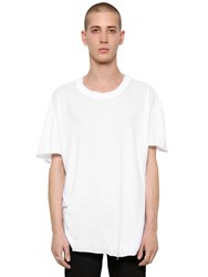 Rta Raw Cut Light Jersey And Cashmere T Shirt