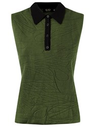 Gig Sleeveless Polo Shirt Green