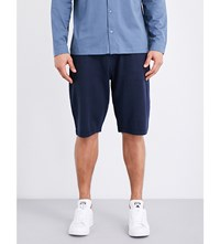 Sunspel Textured Cellulock Cotton Jersey Shorts Navy
