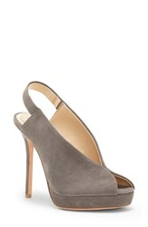 Imagine Vince Camuto By Reany Platform Sandal Greystone Suede