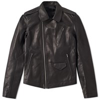 Rick Owens Stooges Leather Jacket Black