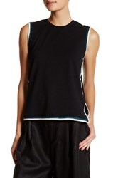 Opening Ceremony Wavy Piped Muscle Tank Black