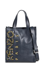 Kenzo Kontrast Small Vertical Shopper Bag Navy Blue
