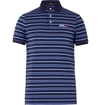 Rlx Ralph Lauren Airflow Slim Fit Stretch Jersey Polo Shirt Blue