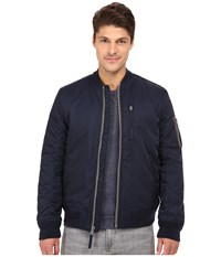 Lucky Brand Nylon Bomber Jacket Savile Row Navy Men's Coat