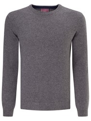 John Lewis Made In Italy Cashmere Crew Neck Jumper Mid Grey