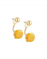 Lydell Nyc Crackled Crystal Jacket Earrings Light Yellow