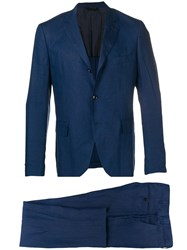 Massimo Piombo Mp Classic Two Piece Suit Blue