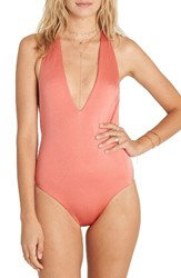 Billabong Women's Sol Searcher One Piece Swimsuit Rose Blush