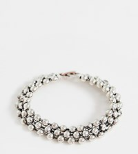 Designb Chunky Ball Bracelet In Antique Silver Exclusive To Asos