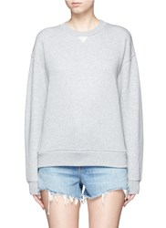 Alexander Wang Cotton Blend French Terry Sweatshirt Grey