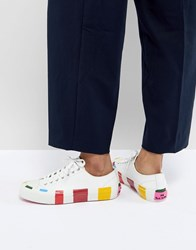 Paul Smith Ps By Multi Stripe Trainer White