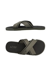 Armani Jeans Sandals Military Green