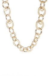 St. John Women's Collection Hammered Link Necklace