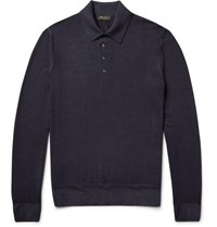 Berluti Wool Polo Shirt Midnight Blue