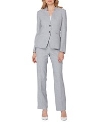 Tahari By Arthur S. Levine Classic Fit Heathered Suit Heather Grey