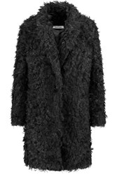Elizabeth And James Iris Faux Shearling Coat Black