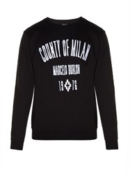 Marcelo Burlon Capurata Crew Neck Sweatshirt Black White