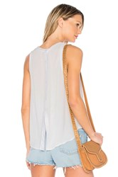 Bella Dahl Back Button Up Top Gray