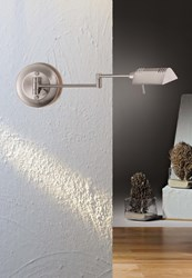 Holtkoetter 8170 Pharmacy Swing Arm Wall Sconce Silver